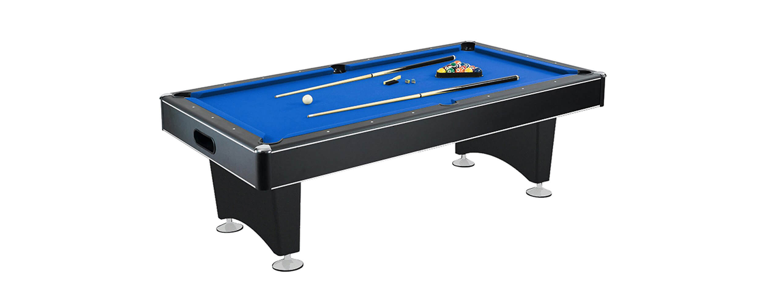 Hathaway Hustler 7'-8' Pool Table with Blue Felt
